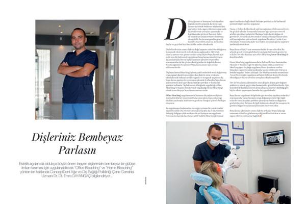 Conceptdent Mag Dergisi Diş Beyazlatma Röportajı