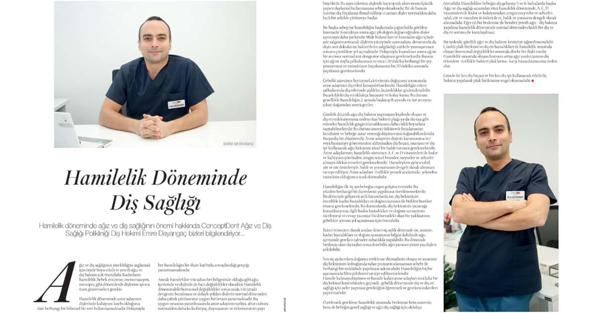 Mag Dergisi Hamilelik Döneminde Diş Sağlığı Röportajı
